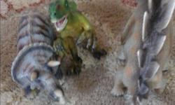 Set of three Schleich dinosaurs. Smoke free home