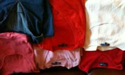 I have several shirts (long sleeve and short) for sale as well as dresses and pants. Most from Thyme Maternity. Size large and xl. Used for one pregnancy, excellent condition. $5.00 for shirts and $10 for pants and dresses. I will delete the ad when they