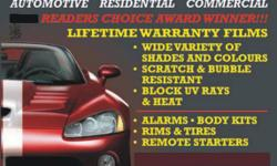 TINT BOYZ, HAMILTON'S LEADING AFTERMARKET ACCESSORY STORE, IS A VALENTINE'S DAY SPECIAL ONLY FOR KIJIJI USERS!!!!   RIGHT NOW GET OUR HIGH GRADE [PREMIUM LIFETIME WARRANTY FILMS FROM JUST $150!!!-- THAT'S INSTALLED ON YOUR VEHICLE!!!- SOME EXCEPTIONS WILL