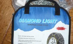 Be prepared for the snow and ice!Made for: Light Truck or SUV Brand: Diamond Light - European Loop Style. Condition: New: A brand-new, unused, undamaged item in its original packaging. Complete with instructions Never been used before, these were