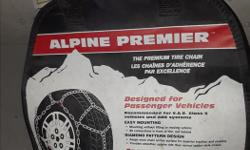 Never used tire chains. See photo for tire size. I need a larger set for my new vech. If you have a set for an 18 in. tire size maybe we can swap.