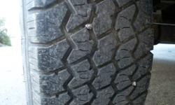 SELLING A SET OF 2 TIRES 9.50 X 16.5 IN RIM SIZE . THEY IN EXTRA NICE CONDITION , 95% SELLING BOTH FOR 200. .......................thats 2 tires for 200. CHECK THE PICS
