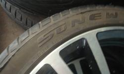 Hi there I have four summer tires, with 17' rims on them. Almost brand new they have seen one summer! thats it! I am asking 1400... Please text if you are interested 7059578885 Or email me thanks