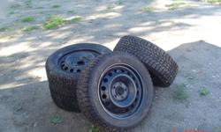 Have 4 tires with rims in excellent condition.  Will fit 2007 and up Cheverolet Cobalt.  They are Firestone winterforce 205/55/R16. Asking $500.00 or best offer.  Contact Norm at 705-471-1403.