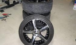 "17? Tires and Rims, Set of 4 - One session, 5000 km - Tires 17""x7.5"" - Bolt Pattern 5x112 - 5 stud lug pattern - Lugs come with rims and lug key - Minimal curb rash - Handles well - Rim & Tires retail for $1200 - Price Firm Please contact Dillon @ 905 648"