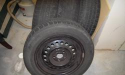 Steel Rims and tires size 205 60 R15 off Grand AM - 5 bolt pattern in my storage locker -- car gone just want them out.  Price firm