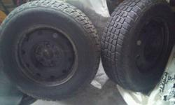 Used winter tires used on a Grand Caravan - selling because I sold the van.  Email me at mailto:carole6336@gmail.com