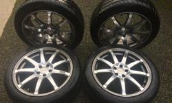 """Achilles ATR Sportz steel belted radial tires. 215/45 ZR 91w extra load. Tires are at about 60% tread. 5 bolt pattern - approx 18"""" rims Were previously on a 2007 City Golf SPYN sporTmaX rims from Canadian company SPYN."""