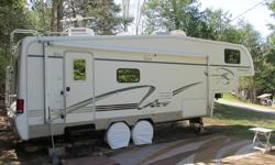 Looking for a Summer home? This fifth wheel sits on a double lot in Plantagenet The seasonal rate is $1450, all inclusive The 30amp electric is included The campground features a laundromat and a new pool Private and public access to the Nation River with