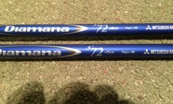 Mitsubishi Rayon BlueDiamana 72R 3 wood Diamana 72R no adapter BEST OFFER!! (Professionally pulled at golfworks) 5 wood Diamana 72R with factory OEM 913 adapter SOLD