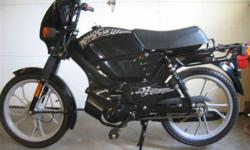 Black Tomos LX for sale. Only 60 kms. Runs great, was used as a demo.