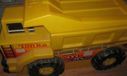 Hard Plastic TONKA TRUCK Toy Box Yellow / Black in Color In great condition Son is getting older and wants to change to something else now Great for storing indoor or outdoor toys EXCELLENT price at $60 These toy boxes are listed $120+ - get for HALF the