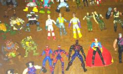 Over 50 assorted action figures! Tmnt, spiderman, batman, gi joe, ghostbusters, x-men, pirates of dark water, and others. Lots of good stuff here. Make some one very happy, all for $55 obo. Can even deliver. This ad was posted with the Kijiji Classifieds