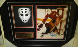 """valued at $300 MAKE A REASONABLE OFFER! Tony Esposito Autographed Hockey Photo / Mask Shadowbox Framed Chicago 20x16x3 best offer This  is approx 20 1/2 """"  wide x 16 1/2 """" high x 3 """" deep.    Comes beautifully framed and matted. Brand New ! Autographed"""