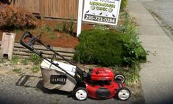 Completely serviced and sharpened ready to go includes charger. We also service Lawnmowers and power products , pick up and delivery available. Good selection of reconditioned mowers. Call Don or Beau @ 250-721-0284. Fully licenced and insured over 40