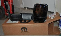 Fits Dodge 2010 - 2012 Ram, I had them on a 1500 series but they fit other models as well ie: 2500 not sure of the 3500. These pop up trailor mirrors are a wanted item and hard to get, I paid over 680.each and selling for way less. They are heated, power,