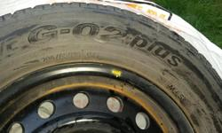 Toyo M + S 205/65R15 on rims. Good condition. Asking $240