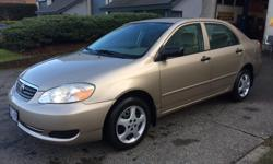 Make Toyota Model Corolla CE Colour BEIGE/GOLD Trans Automatic kms 100533 2006 TOYOTA COROLLA CE - AUTOMATIC 100,000kms A/C - P/W - P/L - STEREO EXCELLENT CONDITON, PRICE REDUCED TO SELL, $6900.00