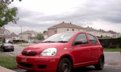 Make Toyota Year 2005 Colour red Trans Manual kms 117000 Very clean car from inside and outside,no rust, manual, no A/C, low milage, very great on gas..........613 2626922 .
