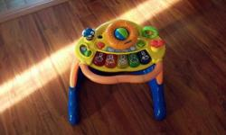 2 push toys $10.00 each Electronic learning toys $10.00 each Miscellaneous toys $1.00 each
