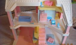 1. Doll House 2. Circus Train 3. Car Garage and the rest of the toys Everything for $20