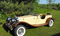TRADE MY CUSTOM CAR FOR YOUR SAIL BOAT...  REPRODUCTION 1937 JAG...FORD POWER . AUTO .WIRE WHEELS .....