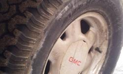 """Hi, Im looking to trade my 16"""" stock chrome GMC 6 BOLT rims that have 265/75/16 tires mounted on them, TRADE for a set of offset rims with aggressive tread tires, 16'' or 17'' MUST BE 6 BOLT PATTERN! OR WILL TRADE FOR OTHER RIMS AND TIRES, MUST BE 16''"""