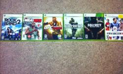 Im selling/trading my 360 games for either cash or ps3 games I have - mw2 - cod4 - blackops - rockband 2 with all instruments - ufc 2010 - fifa 10 - pes 09 - halo 3 - hawx - saints row I also have a 2800 microsoft points card too Willing to trade for ps3