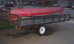 """great double skidoo trailer just with some surface rust. Is single axle but can be converted to double..... needs to be gone before snow comes...make us an offer...no reasonable offer refused....   8 x 12 2"""" ball   email or call 705-792-7979 647-746-5835"""