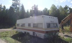 I have a 24ft taurus trailer it sleeps 8 has bathroom and kitchen asking $1200 will consider trades.Please call 613-735-6710 ask for john