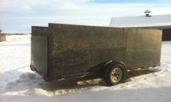 Trailer for sale 14 feet long 5 feet wide 3200 lb axels $3200 O.B.O Call Dennis at 780-881-1882