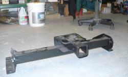 """I am selling a trailer hitch which is in great condition and painted with rust proof paint. The size is: 32"""" inside frame, 5 inch drop and its for a 2"""" ball shaft.   Am in Banff."""