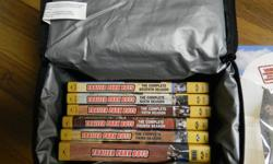 Trailer Park Boys DVD Collection w/ Lunch Bag This Lunch Bag Collection contains season 1 - 7. These DVDs are new. As a bonus I will include a second set of season 1 - 4 DVD sets. I can be contacted @ blaineh1@hotmail.com or via TEXT @ 613 276 8454