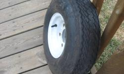 """Trailer Tire  and Rim for sale    8""""  5 stud   like new    $65.00"""