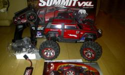 I have for sale a virtually new Traxxas Summit VXL. I bought the truck new and tried it once in front of the house (on pavement) and it?s just too small for me. It is waterproof and very fast by the way. Comes with everything from brand new including, the