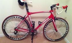 Trek Madone 5.5 with spinergy wheel and carbon fiber handlebar in perfect condition. Maintennace done every year in bike shop and only use for between 200 and 300 km a year. more info on demand..