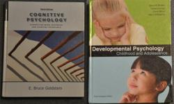 I am selling the Psyc2400 (Cognitive Psychology) textbook and the Psyc2500 (Developmental Psychology) textbook. Take a look and email me if you're interested! Psyc2400 Cognitive Psychology + Set:Txt/CogLab Online Manual (Mint condition)     Author: