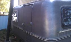 Very rare trillium travel trailer, fiberglass shell in good condition, interior needs some work ( needs new material glued to the walls and cushions made up for bench seats). Was going to be a restoration project but do not have the time. Has new tires