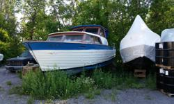 Twin 292 V8 twin 50 gallon gas tanks twin 12 volt batteries, 120 Volt fridge. Out of the water 3 years at Hurst Marina. Boat mover service available. 6137612904 George