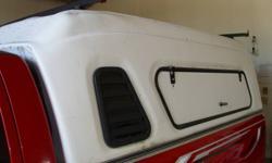 Tradesman Truck cap for 8' box, Roof mounted rack, side access doors, no rear door