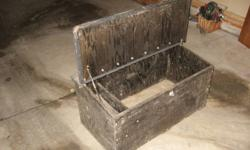 Raven wooden truck tool box. New at Raven $225.00 Make me an offer. Contact me by email please.