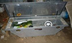 """Truck toolbox 21"""" L x 60"""" W x 13 1/2 """" D Its is mint condition, only a couple yrs old. Came out of a Dodge Dakota pickup. Paid $1200 for it."""