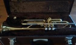 Yamaha Trumpet for sale from school days. This trumpet is about 30 years old but has been in storage most of that time. Still seems to be in excellent condition, untarnished, with case and mouthpiece.