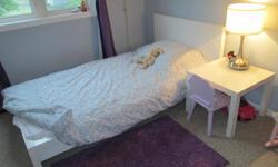 MALM Bed frame, white (bonus: white square side table included) $194.00 MALM Bed frame, black-brown (bonus: black-brown square side table included) $194.00