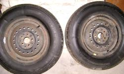 Selling 2 winter tires on rims! 205/75/14 BF Goodwrench Winter Slaloms Lots of tred left - stored indoors Message for more details!