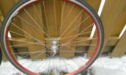 As is front and back wheels with tires and tubes,back wheel has no gear hub both quick release axles 700x23C Alloy etro 622-13 both wheels true. PRICE FIRM BANK/GLEN AVE. area