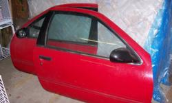 These doors are red and have power windows, mirrors.  Fits a 2-door 1990 - 96 Nissan 200 SX or Sentra.  Both in excellent working condition , glass windows and mirrors are intact with proper wiring, etc.  Asking $175 for both - great deal!