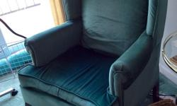 Two jade green wing chairs plus two matching footstools. In good condition, clean, no stains or tears. From a non-smoking household Asking $60 for all or $30 each (chair plus footstool) Pick up only in Nepean.