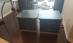 Two matching night tables in fantastic condition! Two drawers in each with a lot of storage space. Please email me for more details.