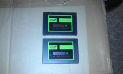 I have for sale two OCZ Agility III SSD's. They are 120 gigs each and are SATA III. Drives have very little run time on them. Price is firm for both drives. Both are still under warranty.